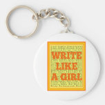 Write Like a Girl Citrus Keychains