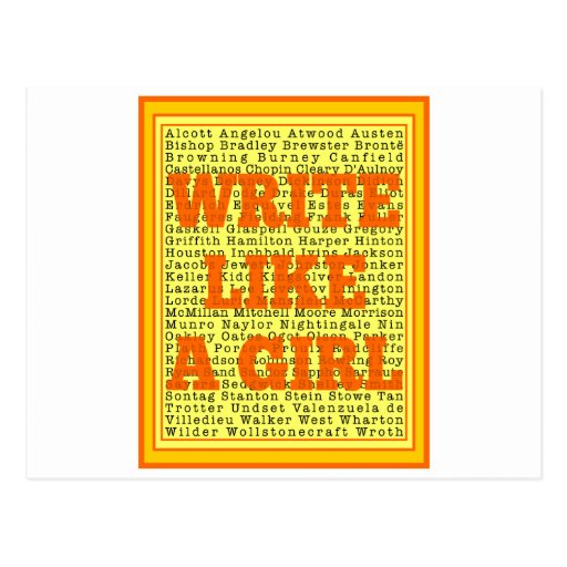 Write Like a Girl Citrus Post Card