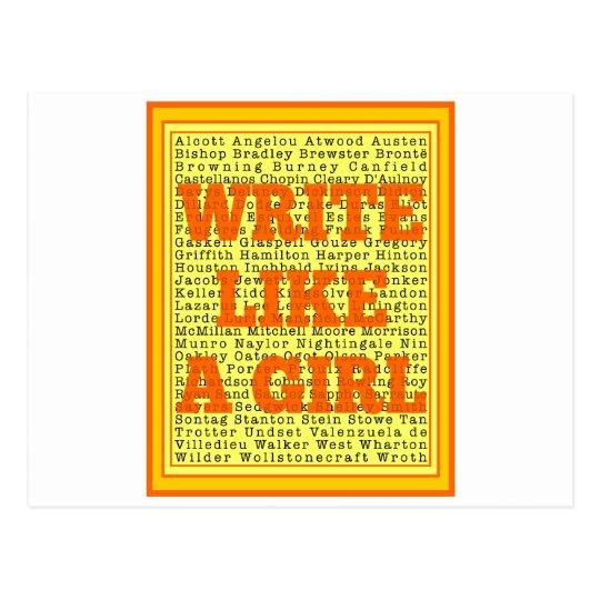 Write Like a Girl Citrus Postcard