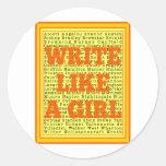 Write Like a Girl Citrus Sticker
