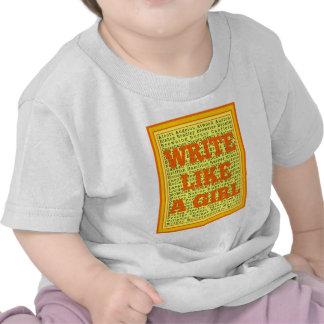 Write Like a Girl Citrus Tee Shirts