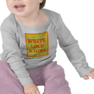 Write Like a Girl Citrus Tshirt
