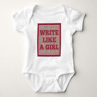 Write Like a Girl Lipstick Baby Bodysuit