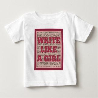 Write Like a Girl Lipstick Baby T-Shirt