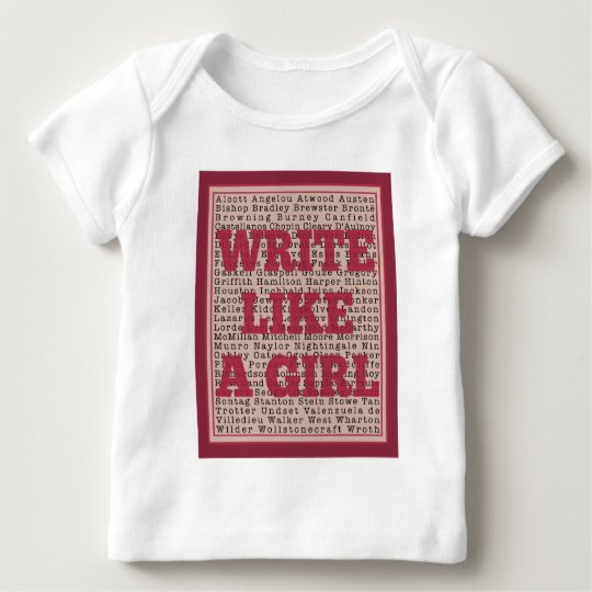 Write Like a Girl Lipstick Baby T-Shirt