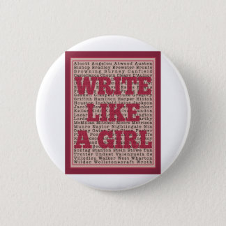 Write Like a Girl Lipstick Button
