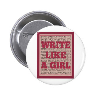 Write Like a Girl Lipstick Button