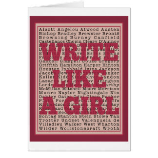 Write Like a Girl Lipstick Greeting Card
