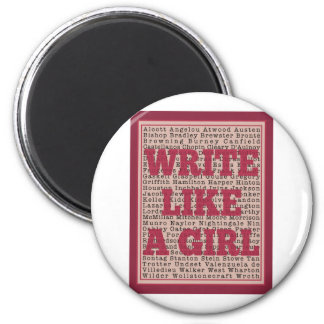 Write Like a Girl Lipstick Magnet