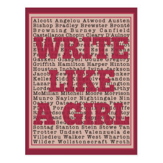 Write Like a Girl Lipstick Postcard