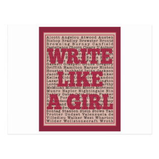 Write Like a Girl Lipstick Postcard
