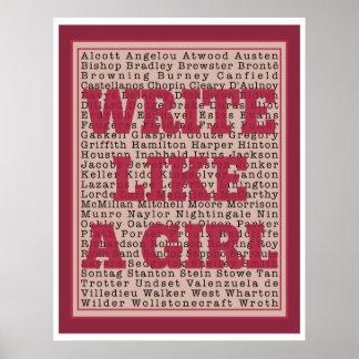 Write Like a Girl Lipstick Print