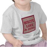Write Like a Girl Lipstick Shirt