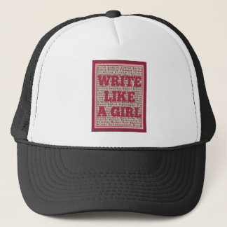 Write Like a Girl Lipstick Trucker Hat