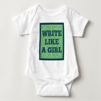 Write Like a Girl Peacock Baby Bodysuit
