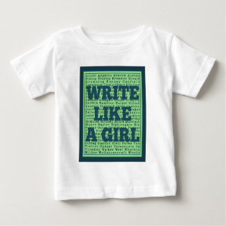 Write Like a Girl Peacock Baby T-Shirt