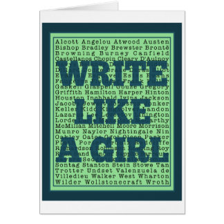 Write Like a Girl Peacock Greeting Cards