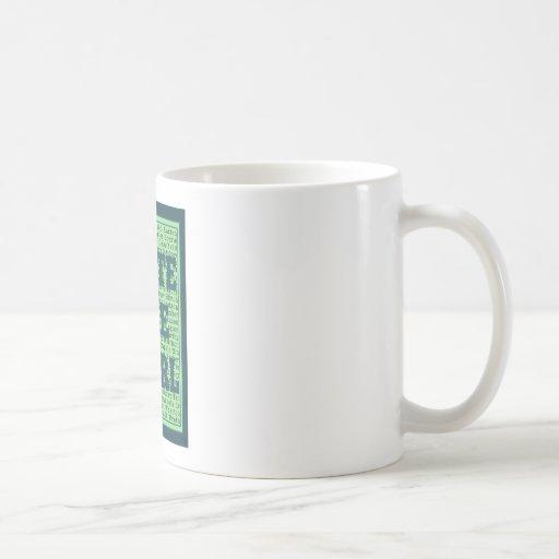 Write Like a Girl Peacock Coffee Mugs