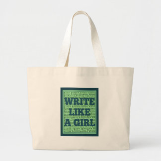 Write Like a Girl Peacock Jumbo Tote Bag