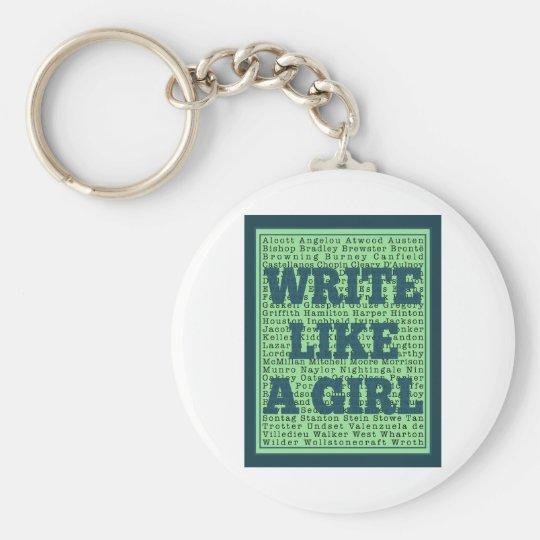 Write Like a Girl Peacock Keychain
