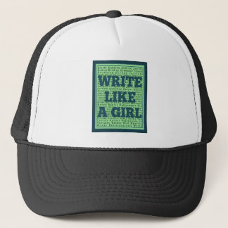 Write Like a Girl Peacock Trucker Hat