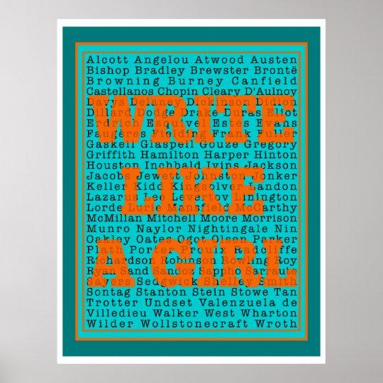Write Like a Girl Teal Print