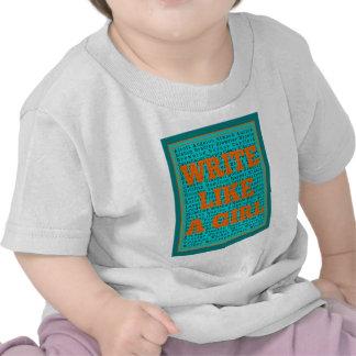 Write Like a Girl Teal T-shirt