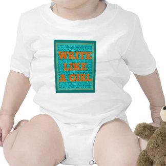Write Like a Girl Teal T Shirt