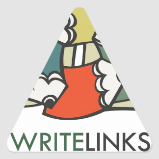 Write Links Logo Triangle Sticker