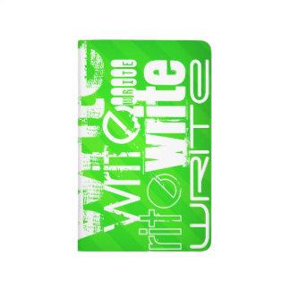 Write; Neon Green Stripes Journal