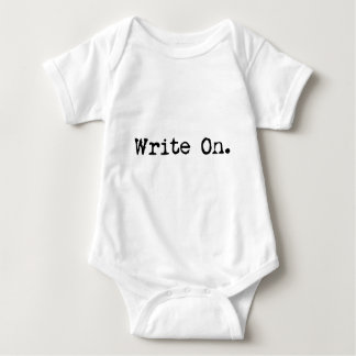 Write On apparel for writers Baby Bodysuit