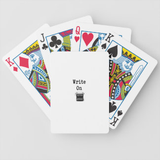 Write On Bicycle Playing Cards