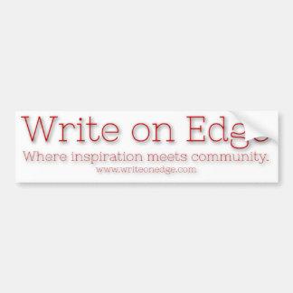 Write on Edge Bumpah Stickahs Car Bumper Sticker
