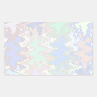 Write On  MultiColor Multi Image Light Shade Rectangular Sticker