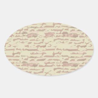 Write On  MultiColor Multi Image Light Shade Oval Sticker
