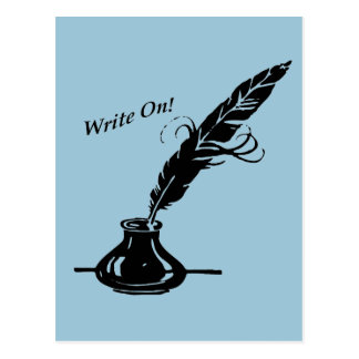 Write On! Quill Ink for Writers Postcard