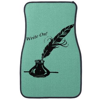 Write On! Quill Ink Sea Foam Green Auto Floor Mat