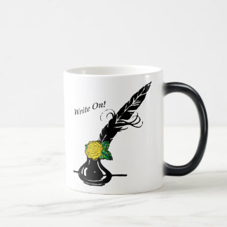 Write On Quill Ink Yellow Rose Cup Black Handle