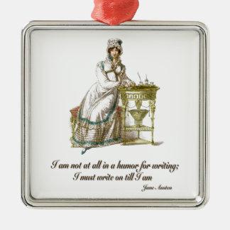 Write On Says Jane Austen Metal Ornament