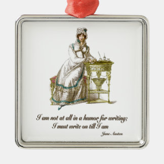 Write On Says Jane Austen Christmas Tree Ornaments