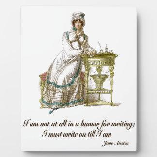 Write On Says Jane Austen Display Plaque