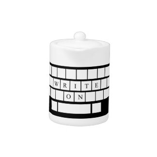 Write On - Teapot - Gifts for Aspiring Writers