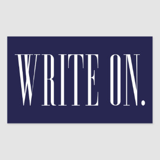 Write On (Ver 1) Rectangular Sticker