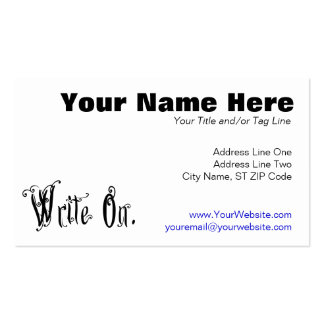 Write On (Ver 2) Double-Sided Standard Business Cards (Pack Of 100)