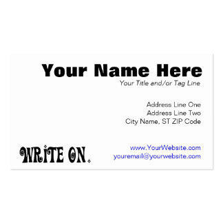 Write On (Ver 3) Double-Sided Standard Business Cards (Pack Of 100)