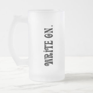 Write On (Ver 3) Frosted Glass Beer Mug