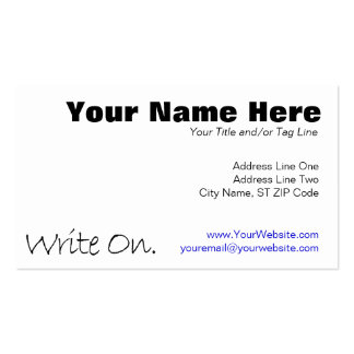 Write On (Ver 4) Double-Sided Standard Business Cards (Pack Of 100)