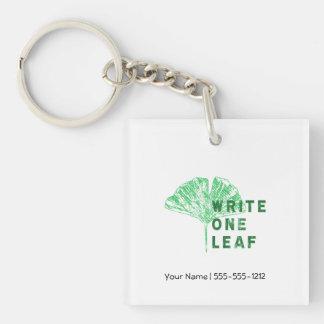 Write One Leaf Merch | Gingko Keychain