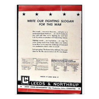 Write Our Fighting Slogan For This War Flyer