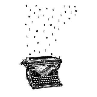 Write typewriter Postcard